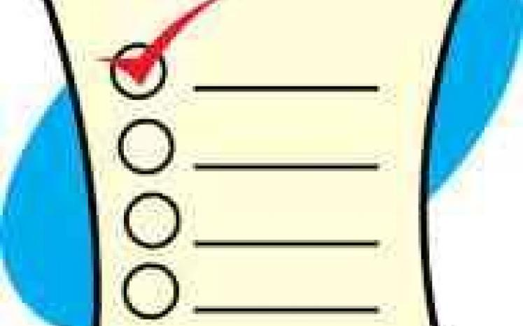 Picture of an election ballot